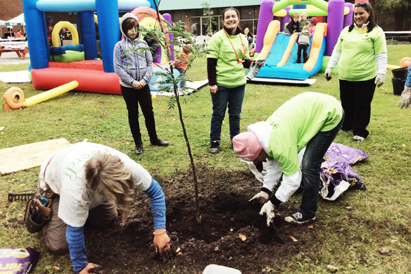 Cascades employees help plant 50 trees