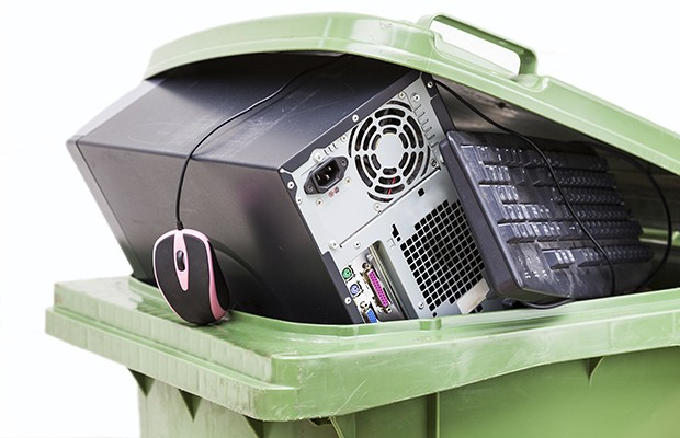 Hard-to-recycle items: Electronic devices